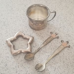 Sterling silver er plated cup and spoon rattle